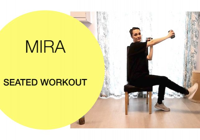 Seated cardio core workout